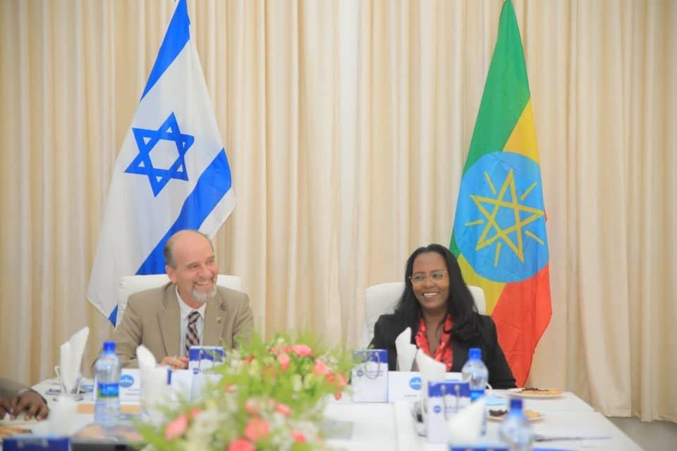 Ambassador Morav and Addis Ababa Mayor